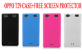 SOFT TPU CRYSTAL SKIN COVER CASE FOR OPPO T29 MT6577 Dual-core +Free screen protector BY HONGKONG