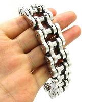 21MM Huge&Heavy Mens Boys Chain Fashion Links Bracelet 316L Stainless Steel Motorbike Bangle Charm Biker New Arrive Gift
