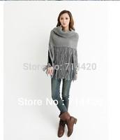 Winter Warm Fashion Knitted Fringe talll Tassels Collar Scarf Muffler Neck