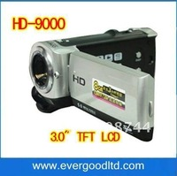 "HD-9000 Digital Video camera+Digital camera+Digital voice recording 3.0"" TFT LCD 960*240 12.0Mega pixels"