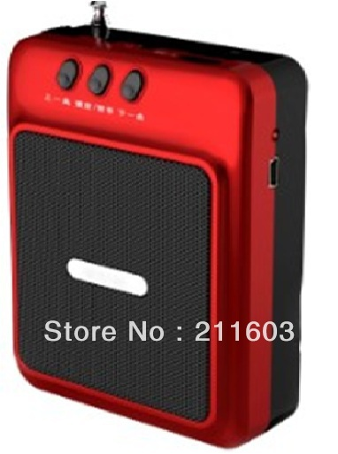 high quality loudspeaker Support TF and USB card ,Long standby time;Mini order:120pcs,30pcs/lot;(China (Mainland))