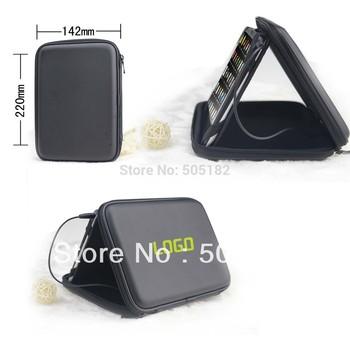 """7"""" Black Tablet Speaker Case Sound Box Bag For tablet VIA 8650 8850 Tablet PC Speaker Bag Cover Case Bag stand holder +free DHL"""