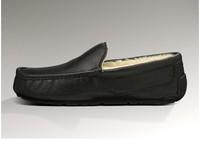 5775 men's shoes black color sheepskin #1
