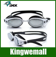 Free shipping DEX Brand ,2color Adjustable swimming Goggles glasses Anti-UV eyewear Waterproof Anti-fog gift ear plugs 2100AF