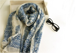 [Free shipping] Hot sale Fashion style women's scarf,New winter collection ladies' scarf -wj008(China (Mainland))
