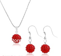 2013 Fashion Jewelry Shambala Necklace For Brides Clay Disco Ball Shamballa Wedding Gifts 20set/lot