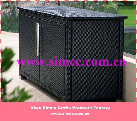 HDPE wicker rattan storage cabinet SCSC-005(China (Mainland))