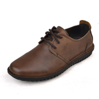 2012 new arrival casual  genuine leather commercial leather single  low-top shoes male fashion