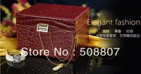 Pomposo European pu jewel boxs RED  free shipping 30-1
