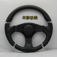 Automobile race steering wheel 13056 black momo steering wheel genuine leather steering wheel modified steering wheel