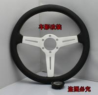 New arrival momo steering wheel 14 refires steering wheel genuine leather steering wheel automobile race steering wheel