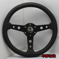 New arrival momo steering wheel 14 refires steering wheel genuine leather steering wheel automobile race steering wheel 13069