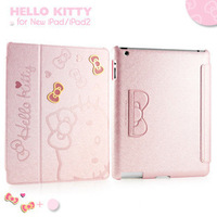 Free Shipping Hot Kitty Luxury Smart cover For iPad Mini Leather Case Cover With Stand Free Shipping