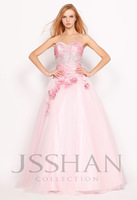 11G052 Strapless Ruched Beaded Flower Layered Gorgeous Luxury Unique Quinceanera Dress with Inlaid Petticoat Ball Gowns