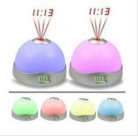 Magic projection lamp electronic clock zone alarm clock mood clock projector colorful projection clock