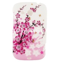 Pink Sakura Cherry Blossom Hard Rubber Case Phone Cover FOR HTC DESIRE C A320E