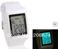 NEW Men's Stylish 50 m Water Resistant Digital Watch (Black.white.pink)+free shipping
