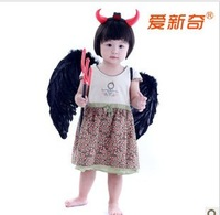Halloween white feather wings angel wings demon black feather wings three-piece suit