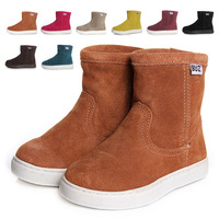 2012 child snow boots buz cowhide child boots genuine leather ankle boots