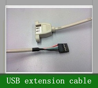 Free Shipping 10pcs USB extension cable, motherboard pin to USB female cable