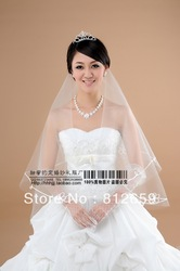 2013 new arrival bridal veils nice wedding dress veil cheap head veils retail wedding accessories(China (Mainland))