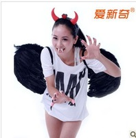 Halloween party dress Halloween Halloween costume supplies supplies the angel devil wings four pieces