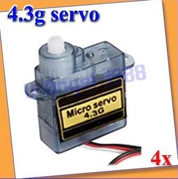 4x4.3g Mini Micro Servo RC R/C plane EP200 Helicopter Car+Free shipping