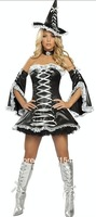 ML9002 Promotion Free Shipping Sexy Naughty  Halloween Party Costume  Women's Witch Costume