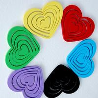 DIY fashion PVC synthetic materials heart-shaped stereoscopic wall stick household adornment 10 PCS/set wall sticker