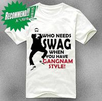 Style t-shirt summer short-sleeve bird psy 4
