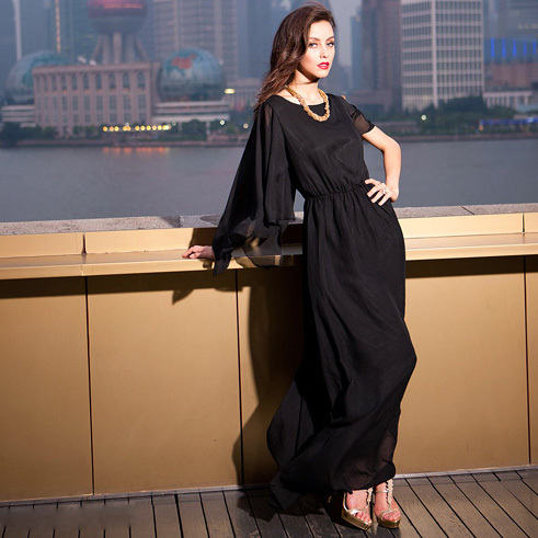 Plain Black Maxi Dress on Dress Princess Long Maxi Dress Inevening Dresses From Apparel
