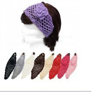 2013 Free shipping fashion Handmade Knit headbands crochet flower headwrap great spring style 50pcs mix colors