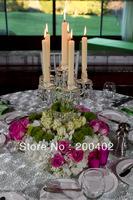 free shipping new desgin white taffeta rosette table cloth  for weddings decoration