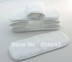 Free Shipping 20pcs Washable reuseable Baby Cloth Diaper Nappy inserts(China (Mainland))