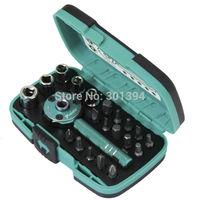 Free Shipping! Brand Pro'skit Repair Tools  SD-2319M New  22 PCS Palm ratchet  wrench Bit  &  Socket Set