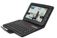Retail Luxury removable detachable Bluetooth Keyboard with embossed Leather Case For Kindle Fire HD 7+Free shipping