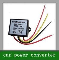 Free shipping 10PCS DC 24V switch 12V 1.5A 18W vehicle car power supply power buck converter transformer