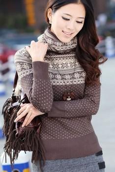 Женская снежинка шаблон пуловеры водолазка трикотаж свитер 204045 бесплатная доставка