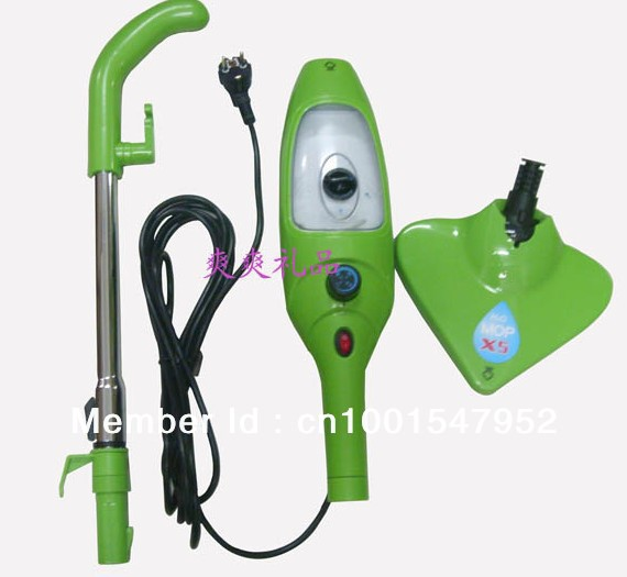 FREE SHIPPING 5 in 1 mop 1pcs/lot H2O Mop X5 h2o steam cleaner Steam Mop X5 Hot sale!!!(China (Mainland))