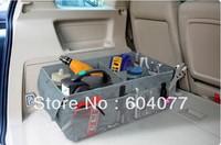 Retail Free shipping multifunctional Bamboo charcoal folding car trunk sorting bags car storage bag accessory Organizer box 1pcs