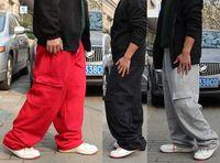 Free Shipping 2012 Hot Sale Men's High-grade Pure Cotton Hip-hop Pants DANCE Flocking Pants / L-3XL