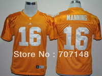 Youth Tennessee Volunteers Peyton Manning #16 Yellow College Football Jersey -Free Shipping
