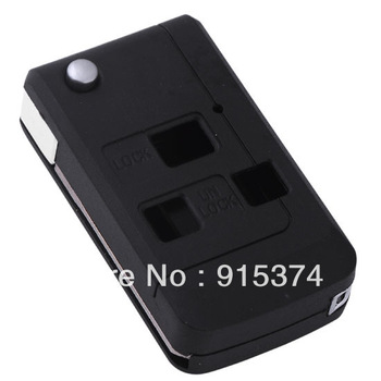 New 3 Buttons Uncut Remote Flip Folding Black Key Shell Case For Toyota Free shipping