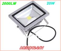 24pcs/lot 20W LED flood light Warm white Cool white AC,DC 12-24V Waterproof led floodlight outdoor lamp