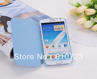 New folio ultra slim smart PU leather case skin cover for Samsung Galaxy Note 2 II N7100 mix 10pcs