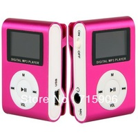 Pink 4GB 4G LCD Mini Clip MP3 WMA Player w/ FM Radio