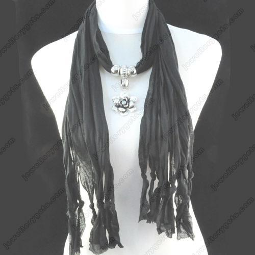 $7.88 tassel scarf jewellery ,jewellery-1252D,wholesale necklaces,no shipping(China (Mainland))