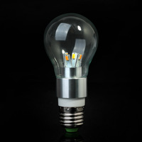 VERY NEW 5W 6pcs LEDs E27 AC85-265V warm white Glass design LED Bulb light LED Lamps LED spot Lights