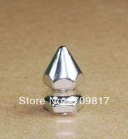 8*14mm Screwback Spikes Silver Punk Rock leathercraft DIY Rivet/wholesale/Free Shipping 500pcs/lot GZ026-14S+B4S