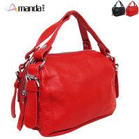 2012 hot sale ! free shipping !women's Classic brief leather bag messenger bag handbag small bag red black 363